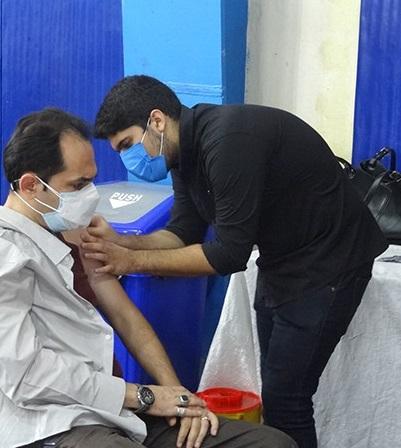 اجرای مرحله اول واکسیناسیون کارکنان شرکت سهامی آب منطقه ای گیلان